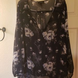 Lane Bryant sheer flower top